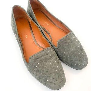 Rebecca Minkoff Gray Alvin Too Studded Flats Sz 10